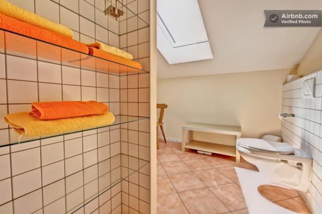 Dieses Badezimmer teilst Du Dir mit einem anderen Reisenden