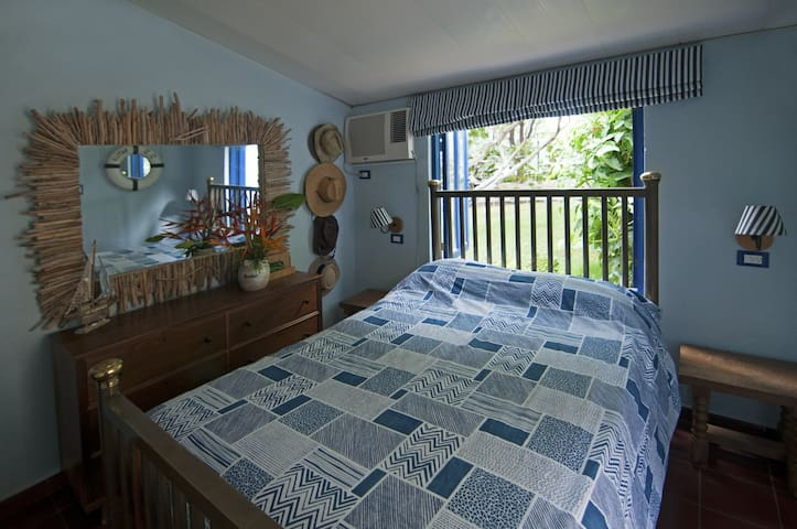Master Bedroom with outdoor bathroom