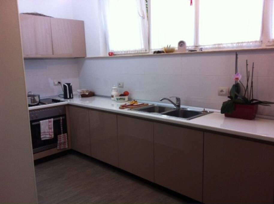 Modern new kitchen with dishwasher