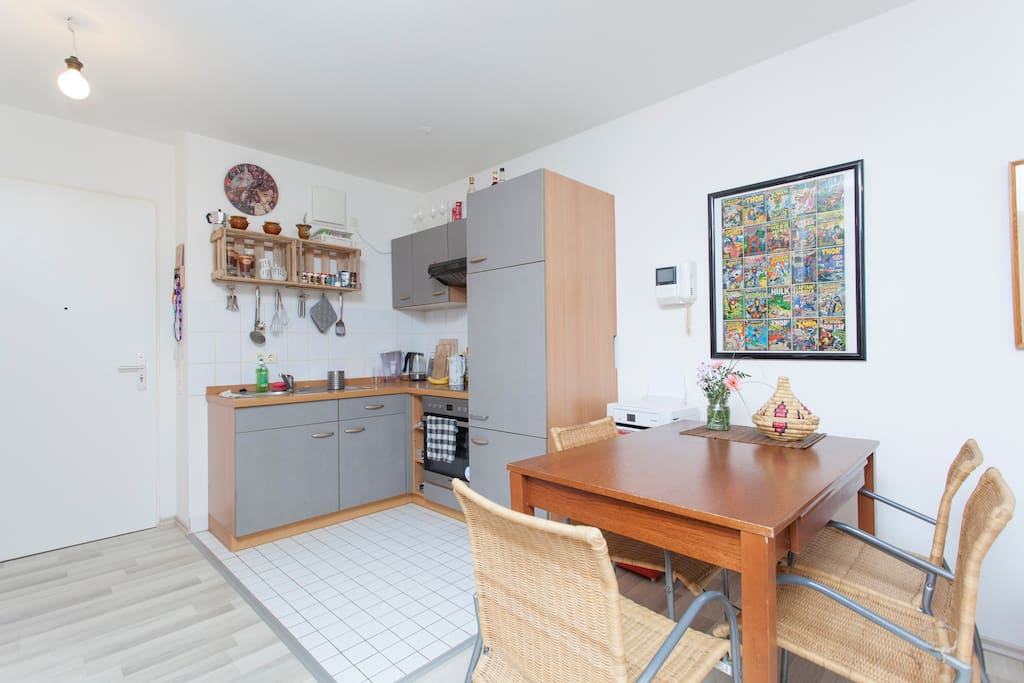 open kitchen with all amenities