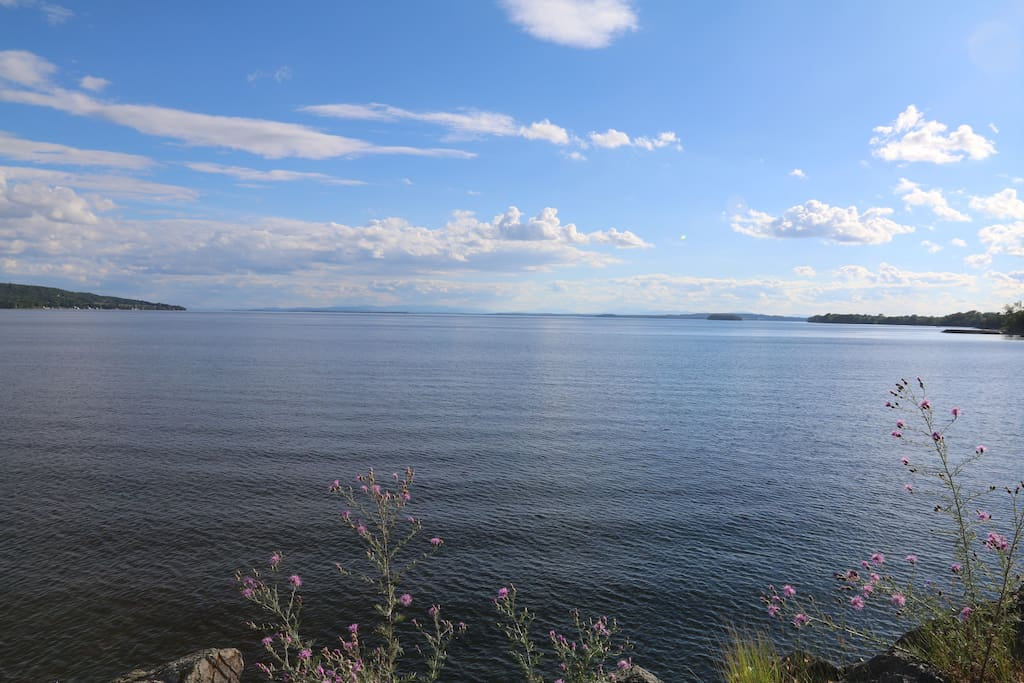 Looking over Lake Champlain from the front lawn!