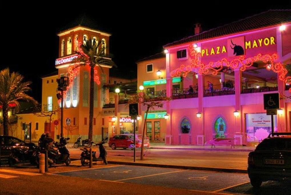 Vista Plaza Mayor de noche