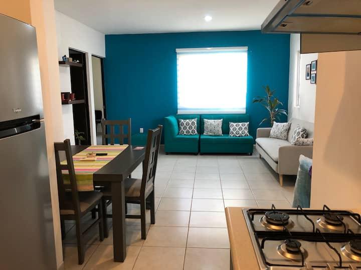 Depto en privada y alberca en Puerto Morelos