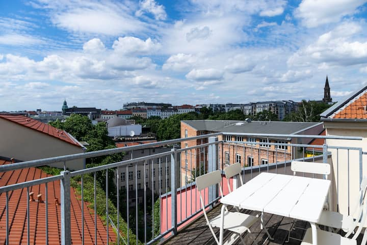 Urban Rooftop Apartment - Berlin MITTE +A/C