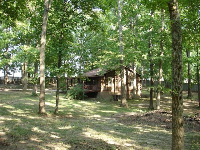 Log Cabin on wooded acre