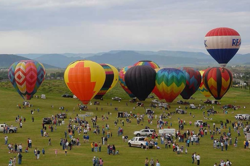 Balloon festival over Steamboat