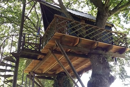 ROMANTIC TREE HOUSE***WITH THE BIRDS up 7 meters - Yvignac-la-Tour - Cabin - 2