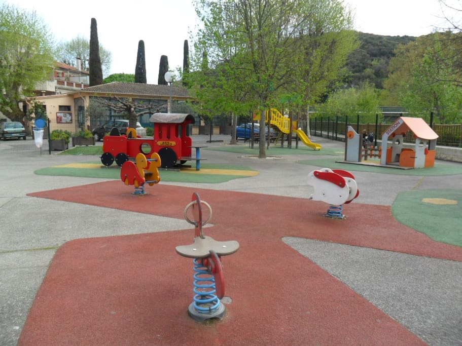 Children's park in  the village - which is 5 minutes drive away