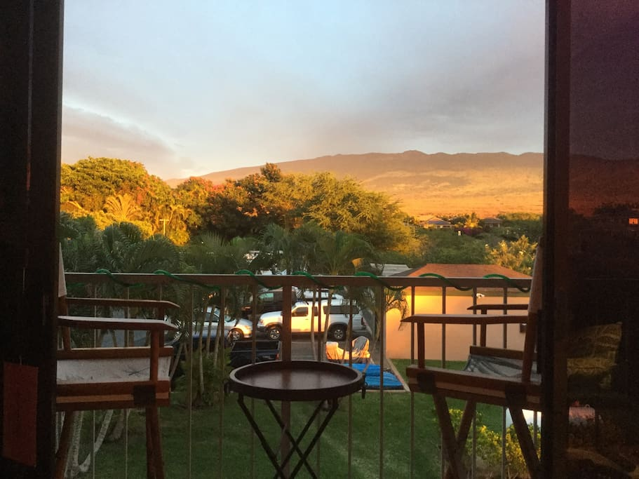 Afternoon sun on Mt. Haleakala from lani.