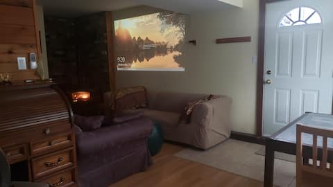 Suite with with hiking and biking nearby.
