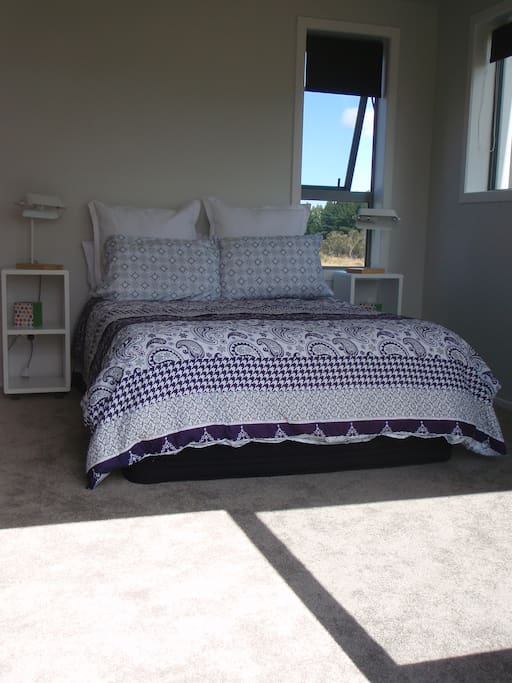Bedroom 2 - Double Bed. Quality Linen and more stunning views of Ruapehu.