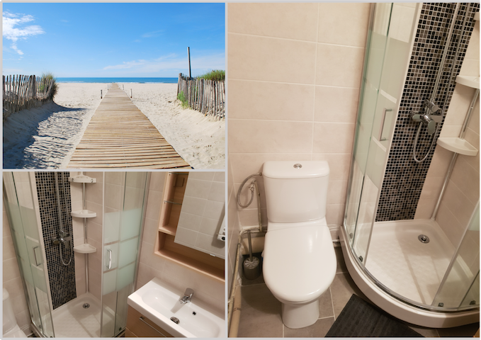 Studio cabine 4pers. Neuf, Equipée, Plage, Parking