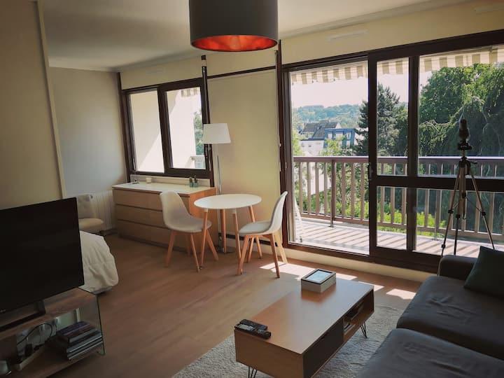 Appart 4 pers - Proche Centre+Balcon+Piscine+Park