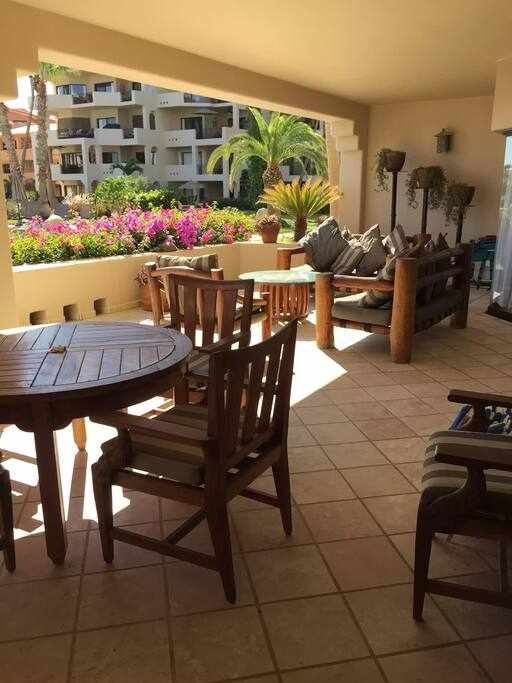spacious private patio with Lounge area and Dinning area