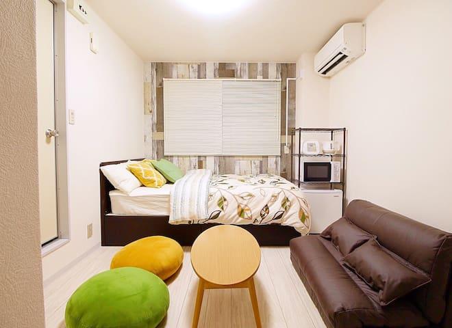 #105 Osaka namba Dotonbori 15mins economy Room - Ōsaka-shi - Appartement