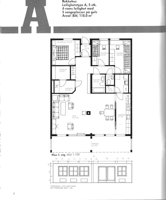 This is what the apartment looks like. The room is the top right (on the picture)