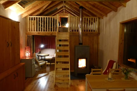 Cosy cabin with hot tub - Cilgwyn - Casa de campo