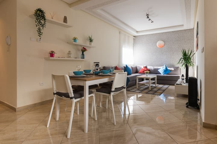 Dining Table + Living Room