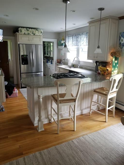 Clean updated open kitchen