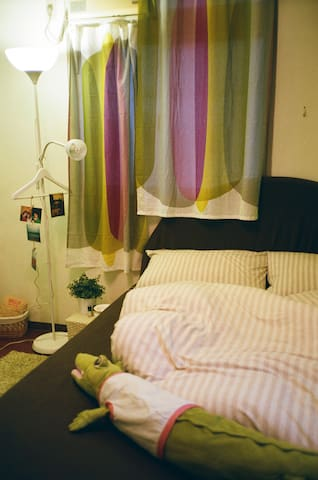 Cozy Room! 溫馨舒適的木地板小房間 - Zhonghe District - Ház