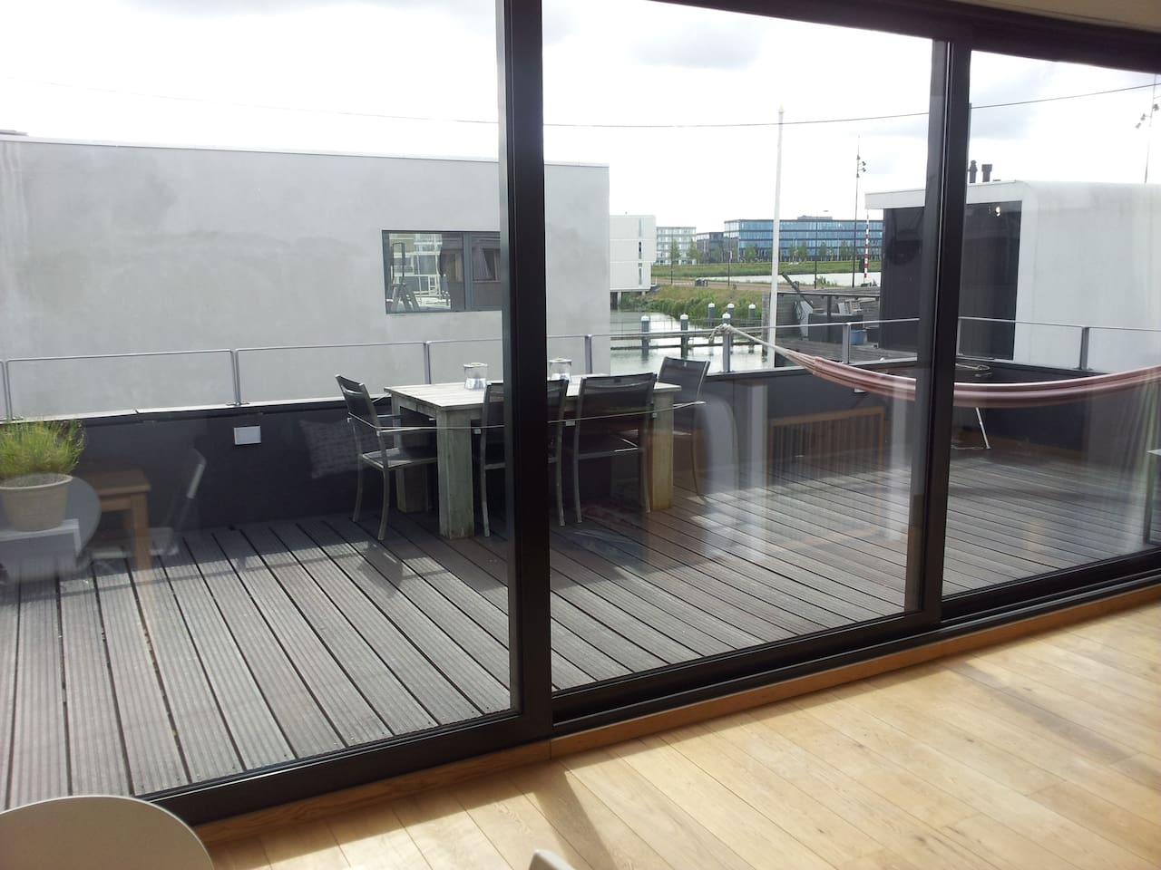 View of terrace from the living area