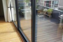 View of the terrace from Bathroom door