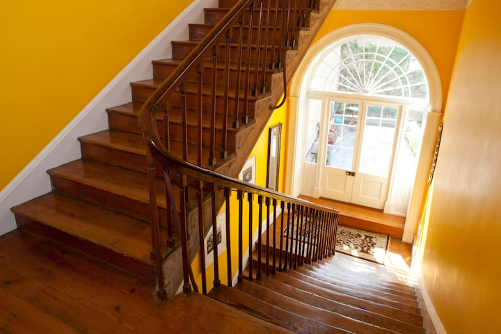 Staircase hall from first floor landing outside apartment