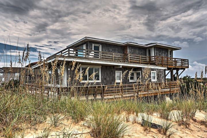 NEW! Nags Head Beachfront Home w/2 Decks & Grill!