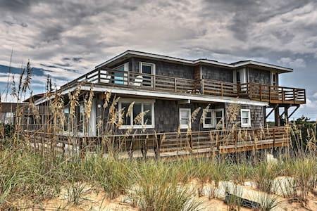 Nags Head Beachfront Home w/2 Decks & Grill!