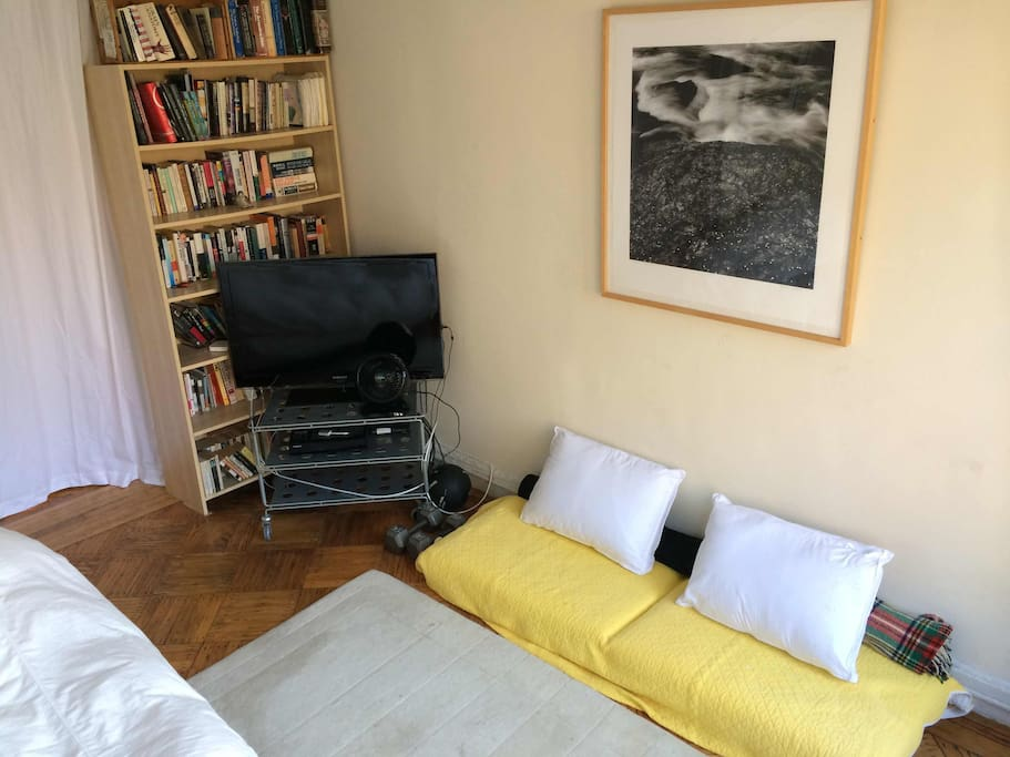 Cushions can be used for extra guest or low-key couch