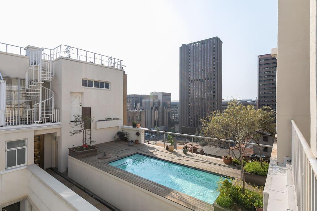 Rooftop communal pool
