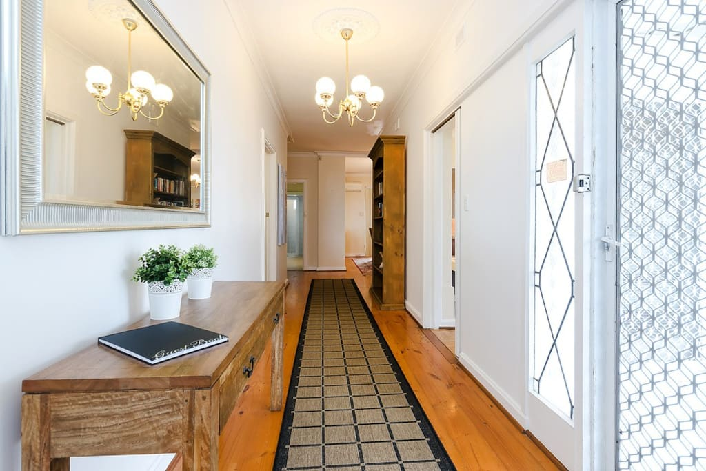 A welcoming, spacious hallway.