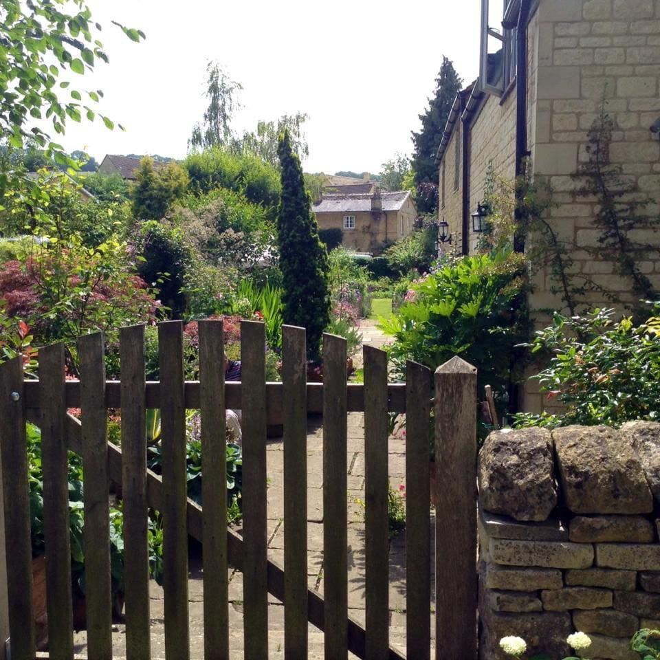 View through the garden gate