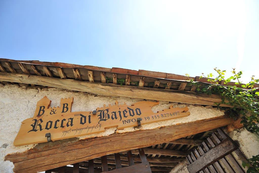 Sign entrance