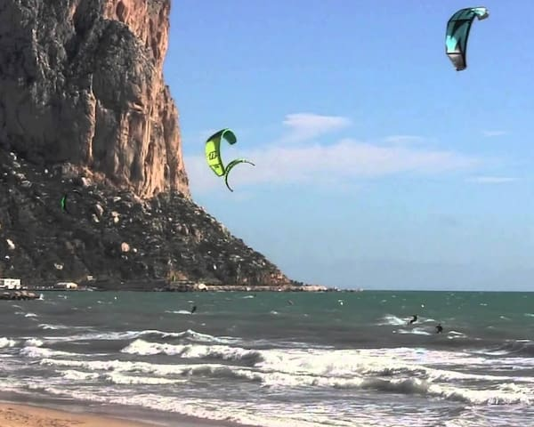 Kite surfing at Calpe Beach