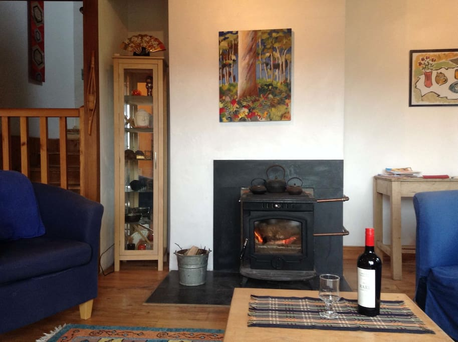 Wood-stove in Living Room