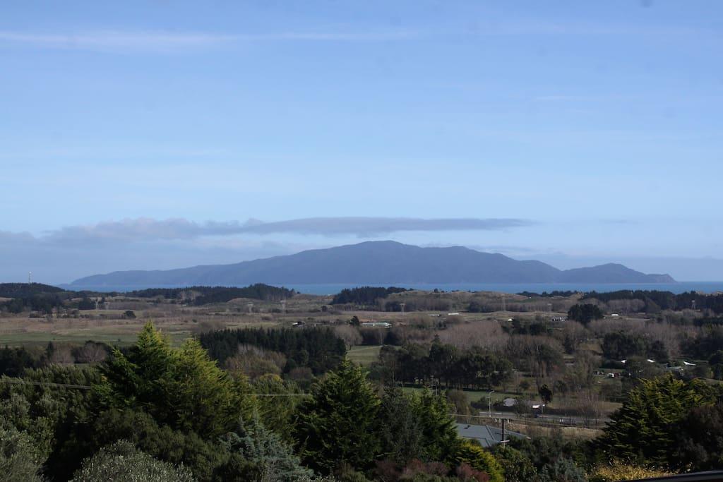 Beautiful views of Kapiti Island