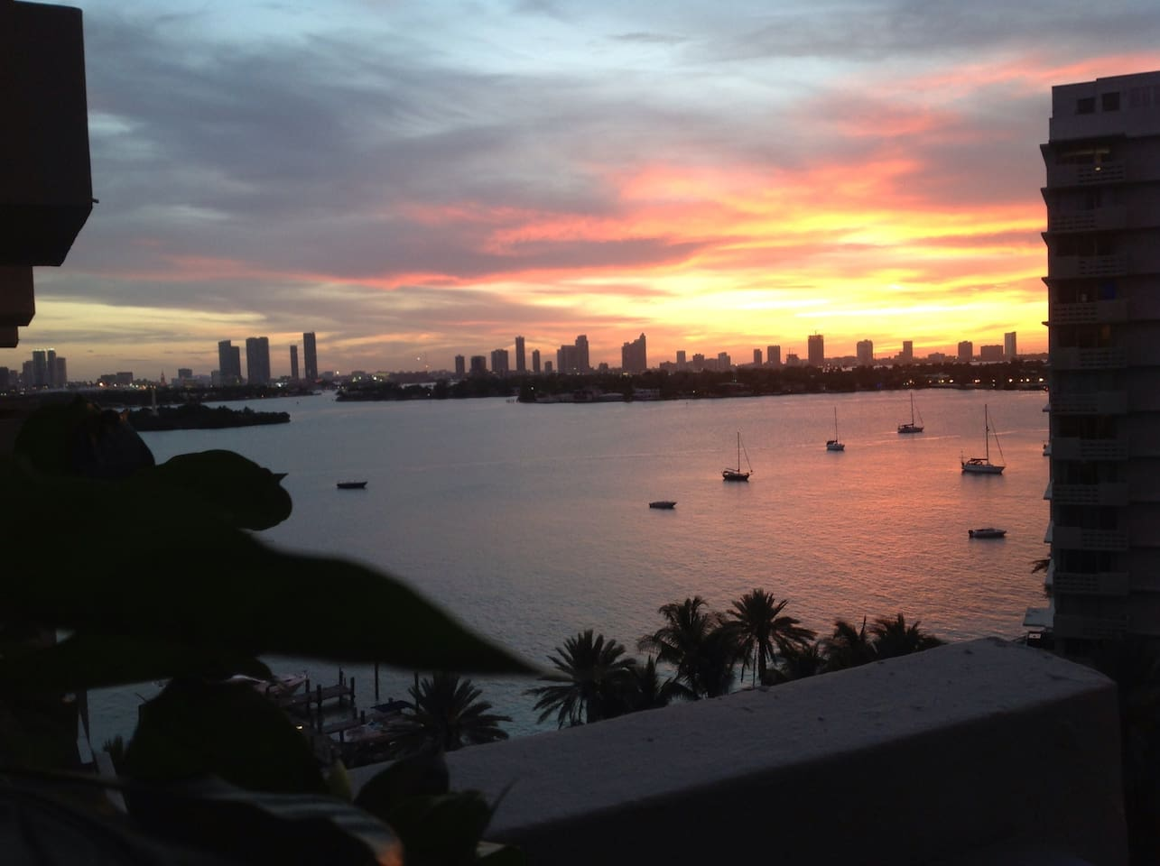 Magnificent Miami Skyline and Biscayne Bay views
