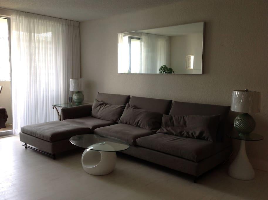 Large comfy lounging sofa