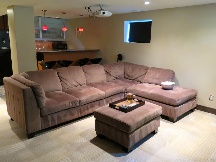 Large, comfy sectional means everyone gets a good seat.