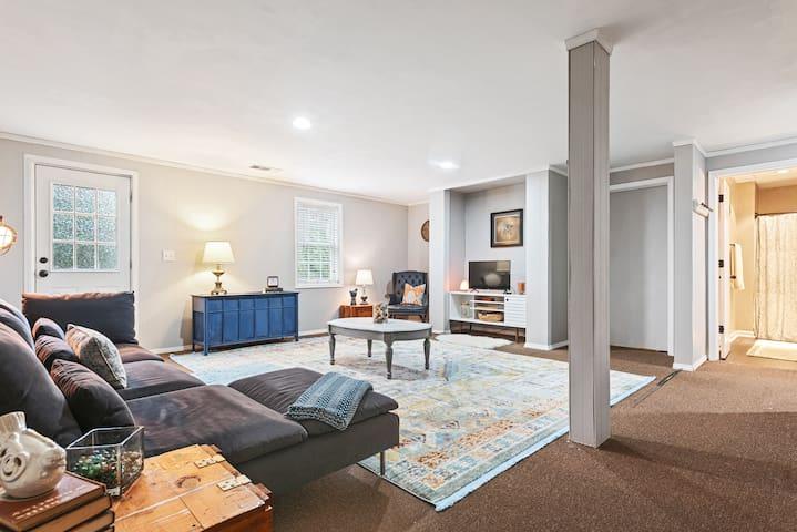 Comfortable basement apartment