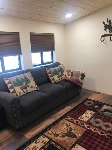 Second bedroom has sleeper sofa