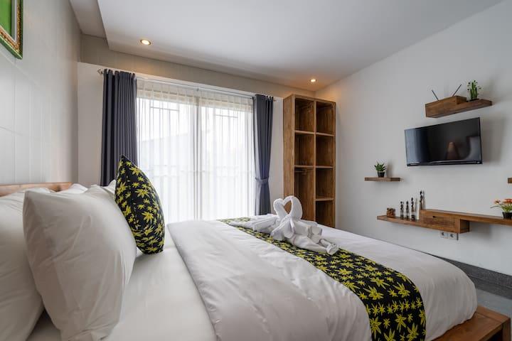 S3 Stylish 1Bedroom Apartment 5min to Finns Canggu