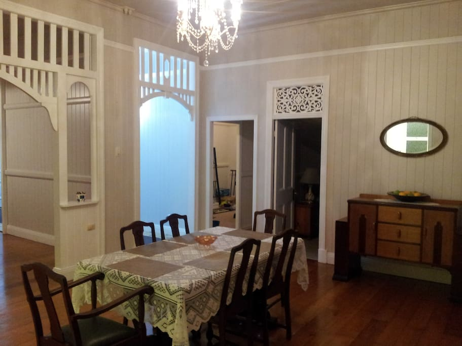A touch of history in the extra large dining room