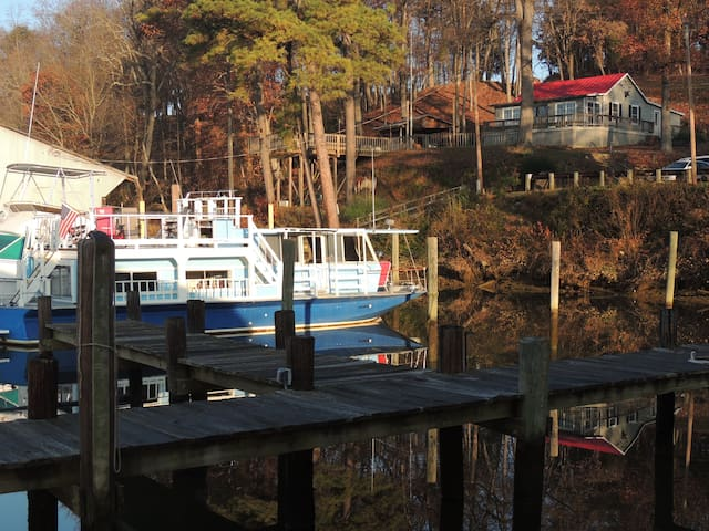 Cozy comfortable houseboat, warm, private and safe - Richmond - Boot