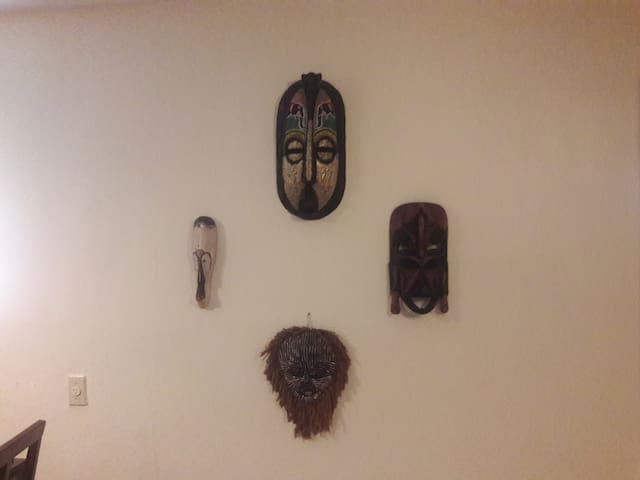 I enjoy collecting masks from Ghana.