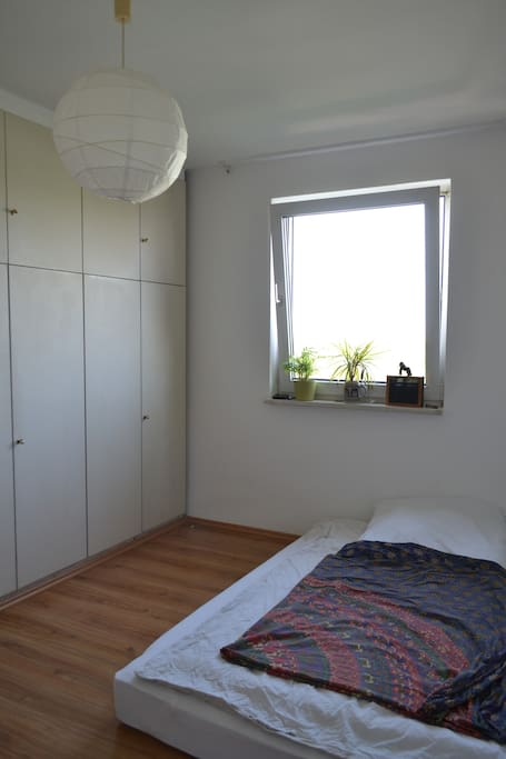 Another view of the room. The window overlooks the centre of Munich and headed west - which means the sunsets are great.