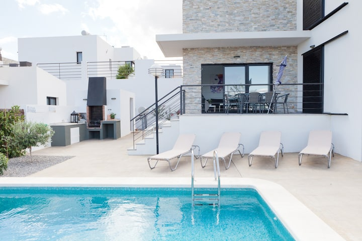 Spacious villa with private heated pool
