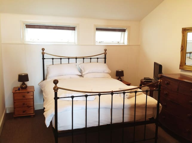 bedroom with brand new King size bed
