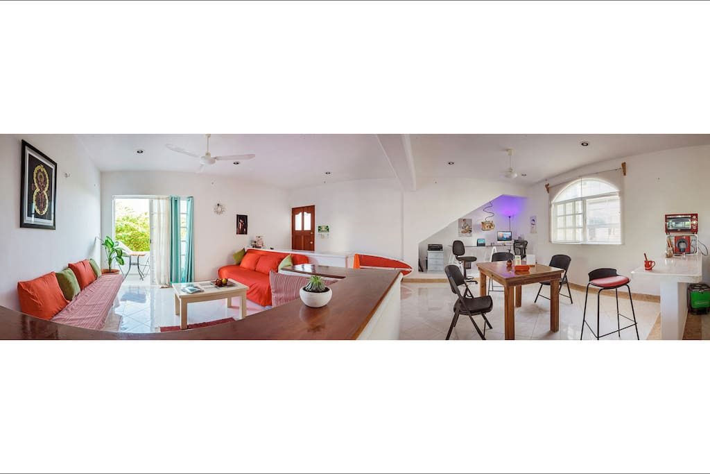 Spacious & Luminous Main Space - 6x7m - 180º angle image from the kitchen